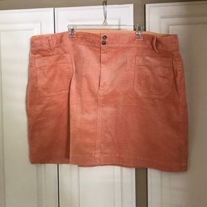 Madewell plus size peach corduroy skirt